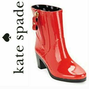 ♠️Kate Spade♠️ Penny Red Rain Boot 6 (Run small)